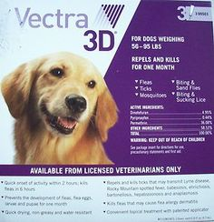Vectra 3d For Dogs Weighing 56 95 Lbs 3 Doses