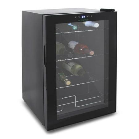 Nutrichef Compact Beverage Fridge Cooler - Wine Bottle & Can Beverage Chilling Refrigerator (Beer Glass Cooler)