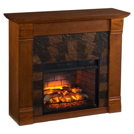 Southern Enterprises Elkmont Infrared Electric Fireplace