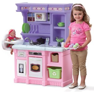 Step2 Little Bakers Kids Play Kitchen with 30-Piece Food Baking Set