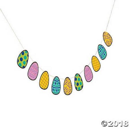 Shiny Easter Egg Garland Banner - Easter Egg Garland