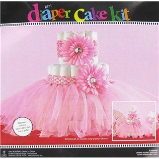 Pink Tutu Diaper Cake Decoration Baby Shower Decoration - Halloween Cakes Decorations