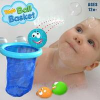 matoen Bathtub Basketball Hoop And 3 Ball Children's Baby Shower Toy Gift Set