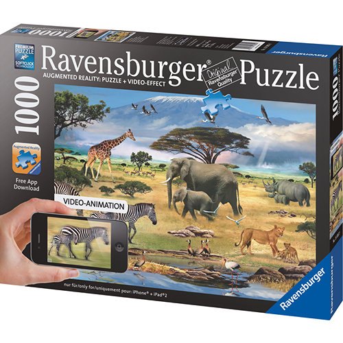 African Animals Augmented Reality 1000 Piece Puzzle