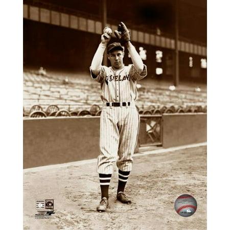 Bob Feller - Ball & glove overhead Photo Print