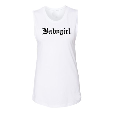 Babygirl Old London Style Womens Graphic Tees Muscle Tank
