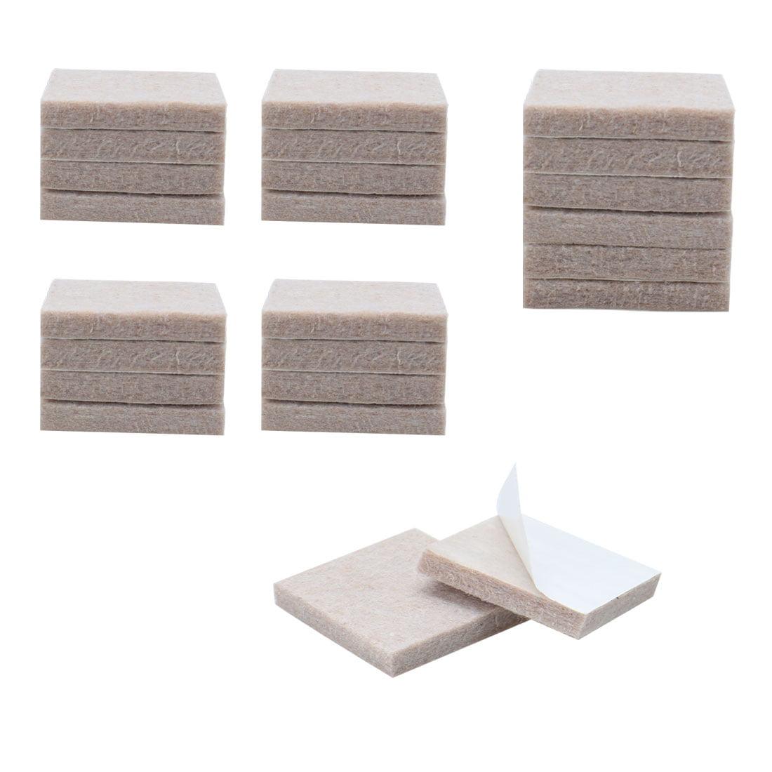 24pcs Furniture Pads Square 1 5 8 Self Stick Anti Scratch Floor