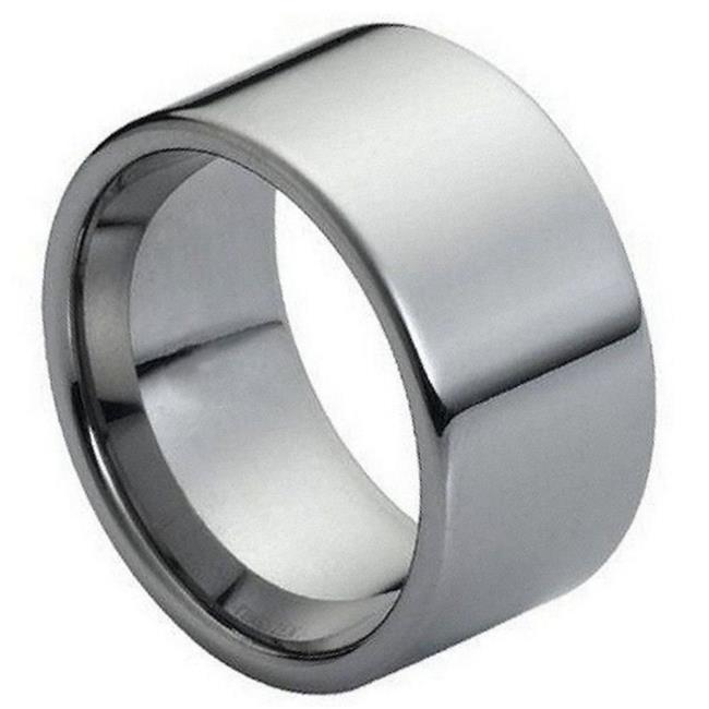 TK Rings 087TR-12mmx5.0 12 mm High Polished Flat Pipe Cut Style Tungsten Ring - Size 5 - image 1 of 1
