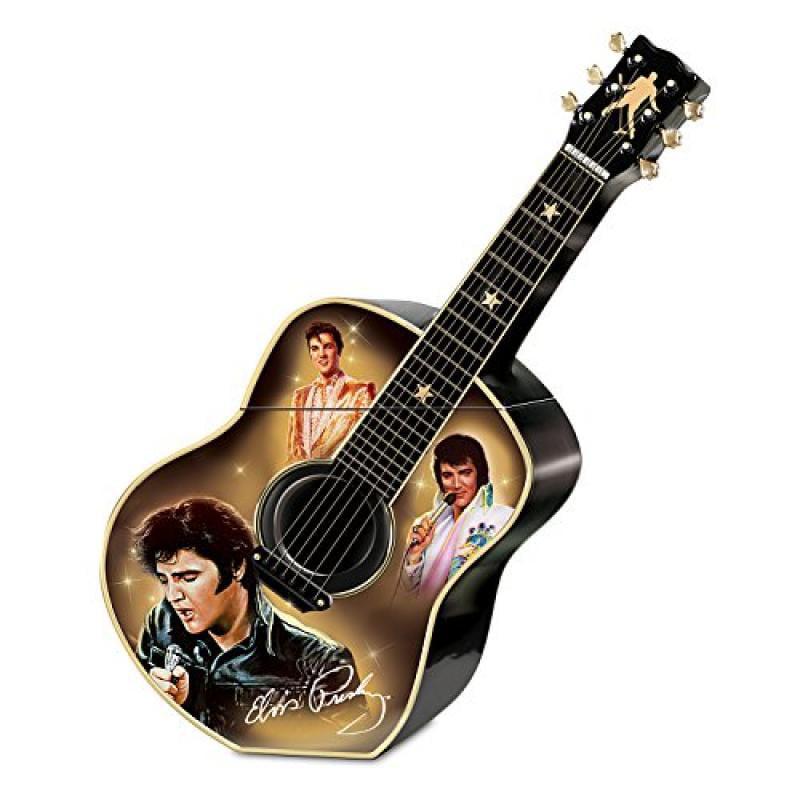 Elvis Presley Guitar Shaped Ceramic Cookie Jar: Elvis A T...