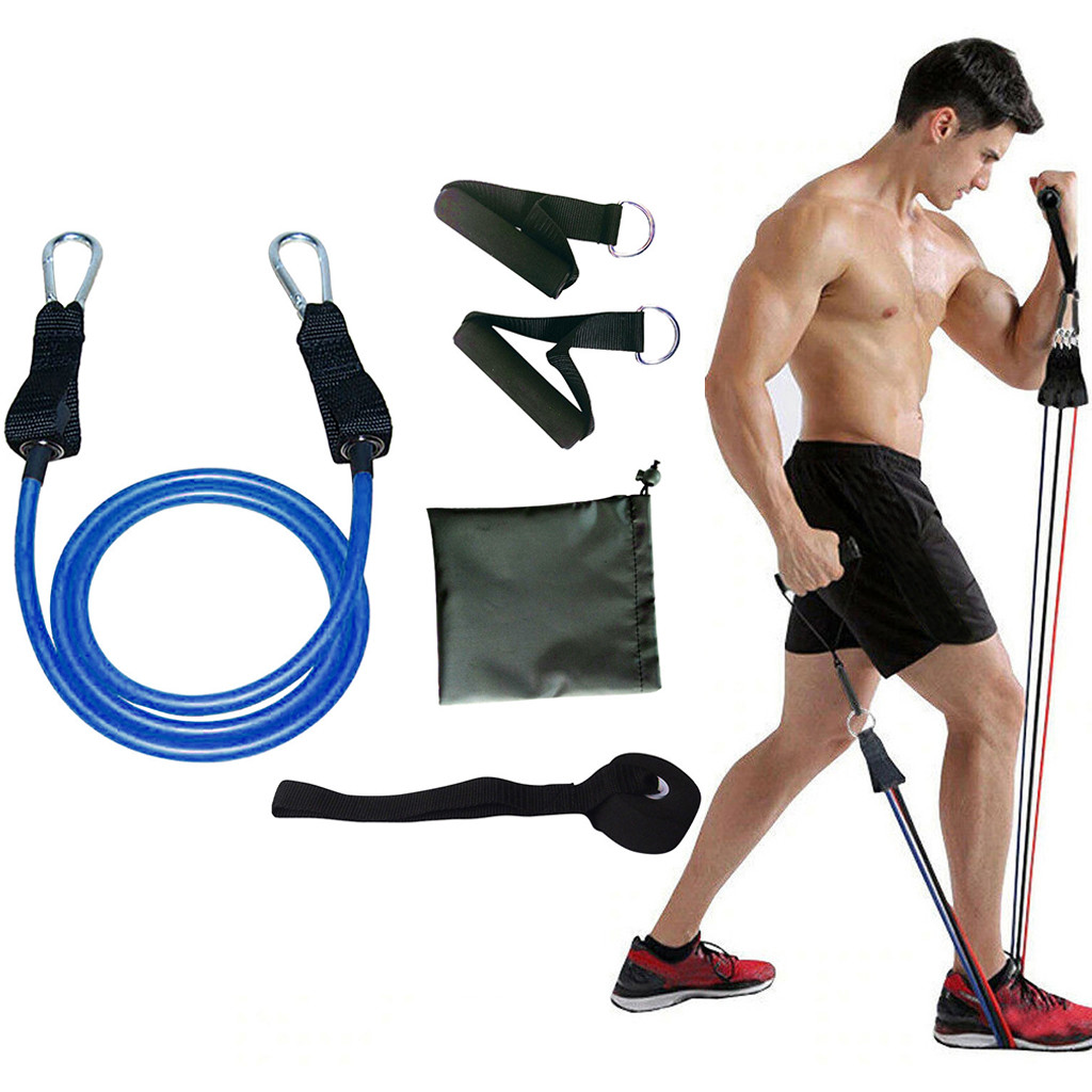 Resistance Band Fitness Set Yoga Pilates Abs Exercise Tube Workout