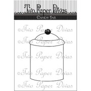 "Two Paper Divas Clear Stamps 7""X4.5""-Candy Jar"
