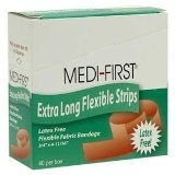 Medique - 62178  Latex Free Extra Long Flexible Strips - 40 Per Box