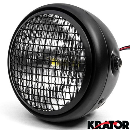 Krator 7  Black Led Motorcycle Headlight W  Side Mounting Running Light High   Low Beam For Yamaha Royal Star Venture Classic Royale Deluxe