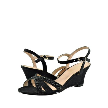 Blossom Field 14 Women's Strappy Open Toe Crystal Wedges