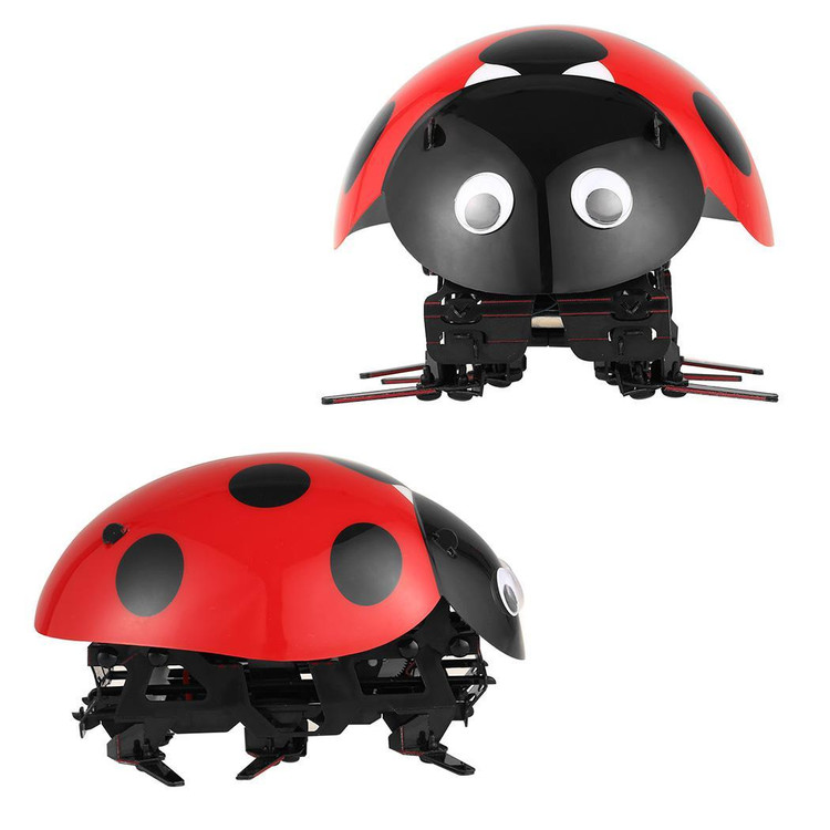 Intelligent Robot Ladybug RC Cars Toys-DIY Radio Control Bionic Insect Toy 2.4GHz wireless remote Control With Rechargable Battery