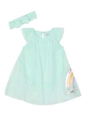 Quiltex Baby Girl Dress & Headband