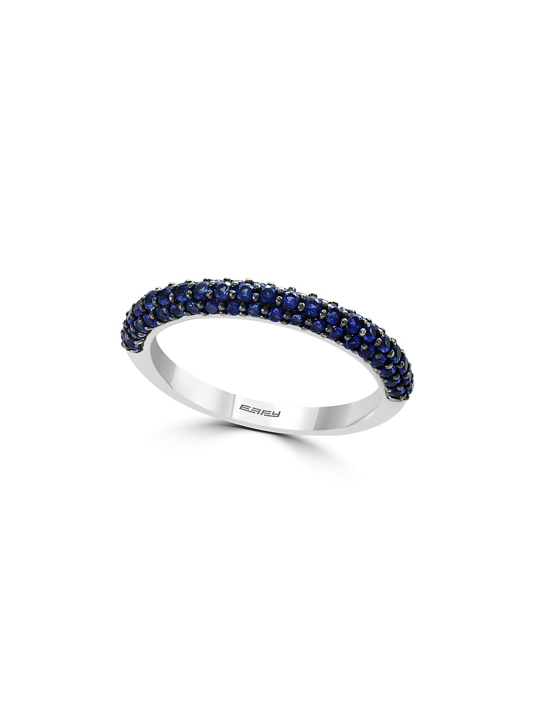 Sterling Silver & Sapphire Pavé Ring