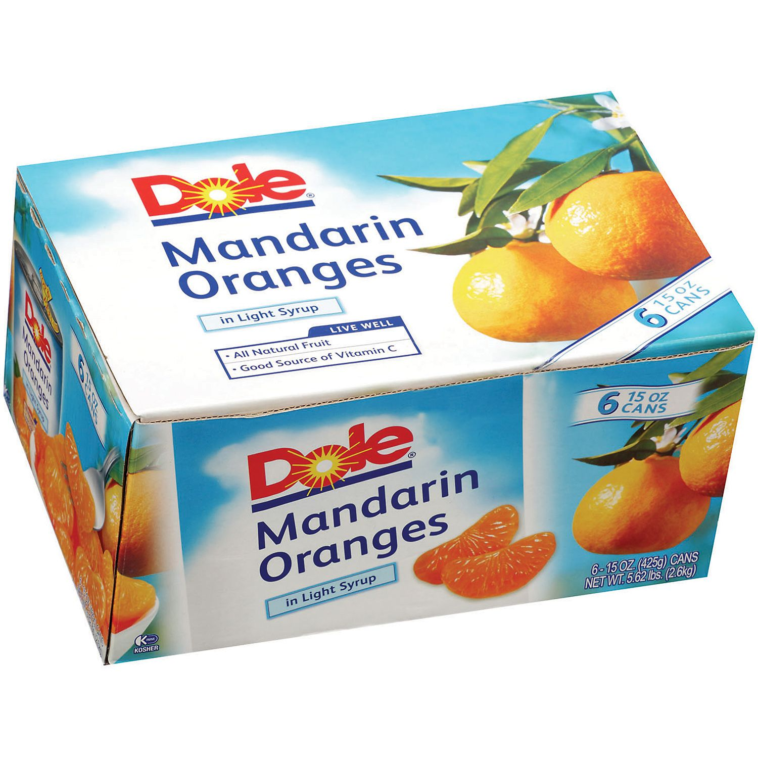 Dole Mandarin Oranges in Light Syrup - 15 oz. - 6 ct.