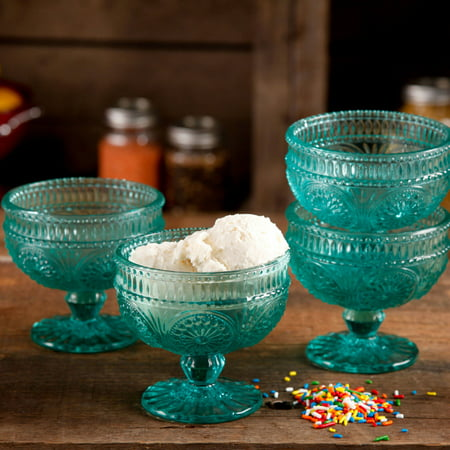 The Pioneer Woman Adeline 4-Piece 10-Ounce Glass Sundae Cup Set ()