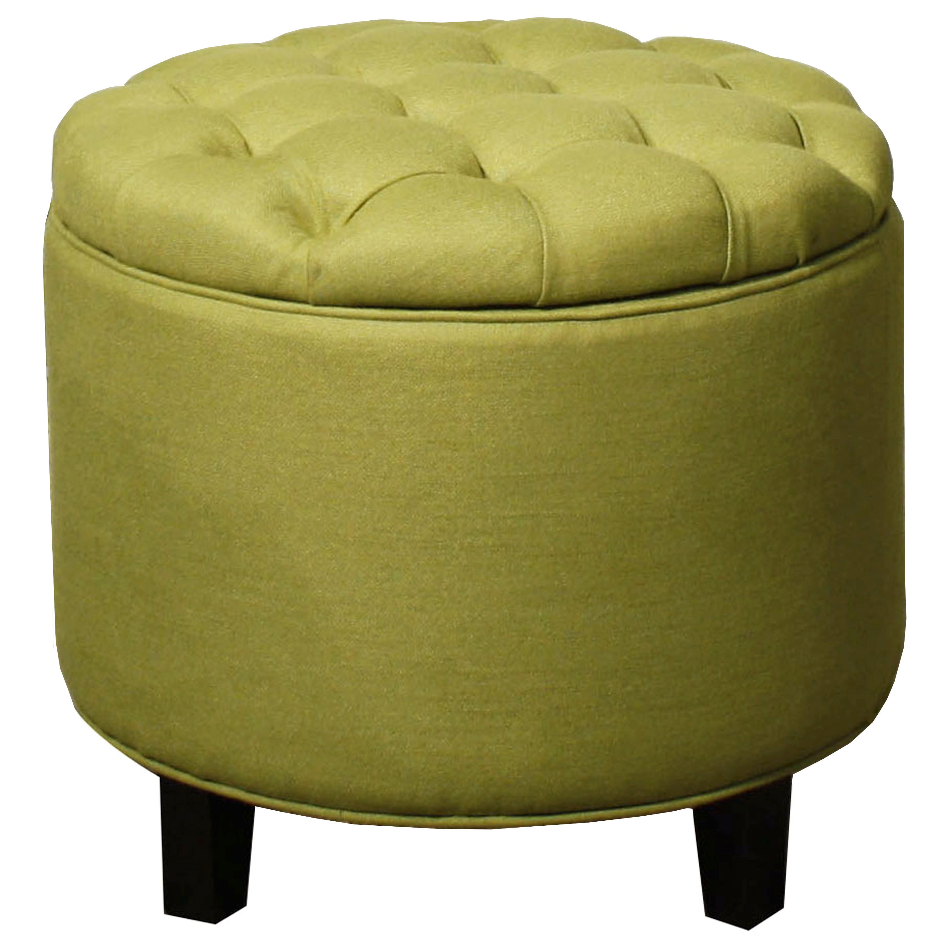 Avery Tufted Round Storage Ottoman, Multiple Colors