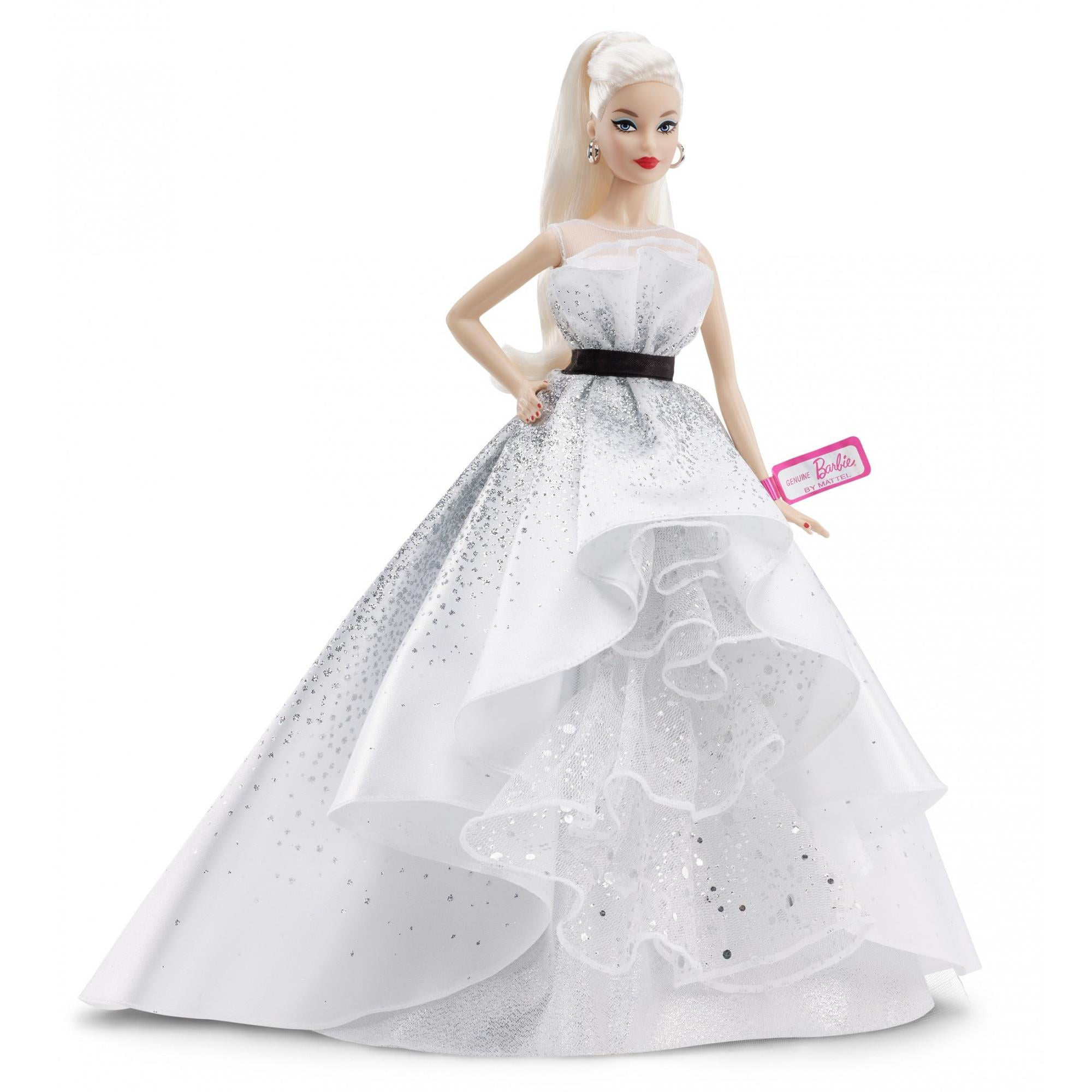 Barbie 60th Anniversary Doll, Blonde Hair & Diamond-Inspired Accents by Mattel