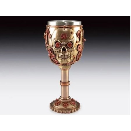 - Copper Steampunk Skull Goblet Chalice New