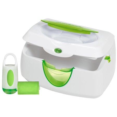 Munchkin Warm Glow Wipe Warmer And Diaper Bag Dispenser Set