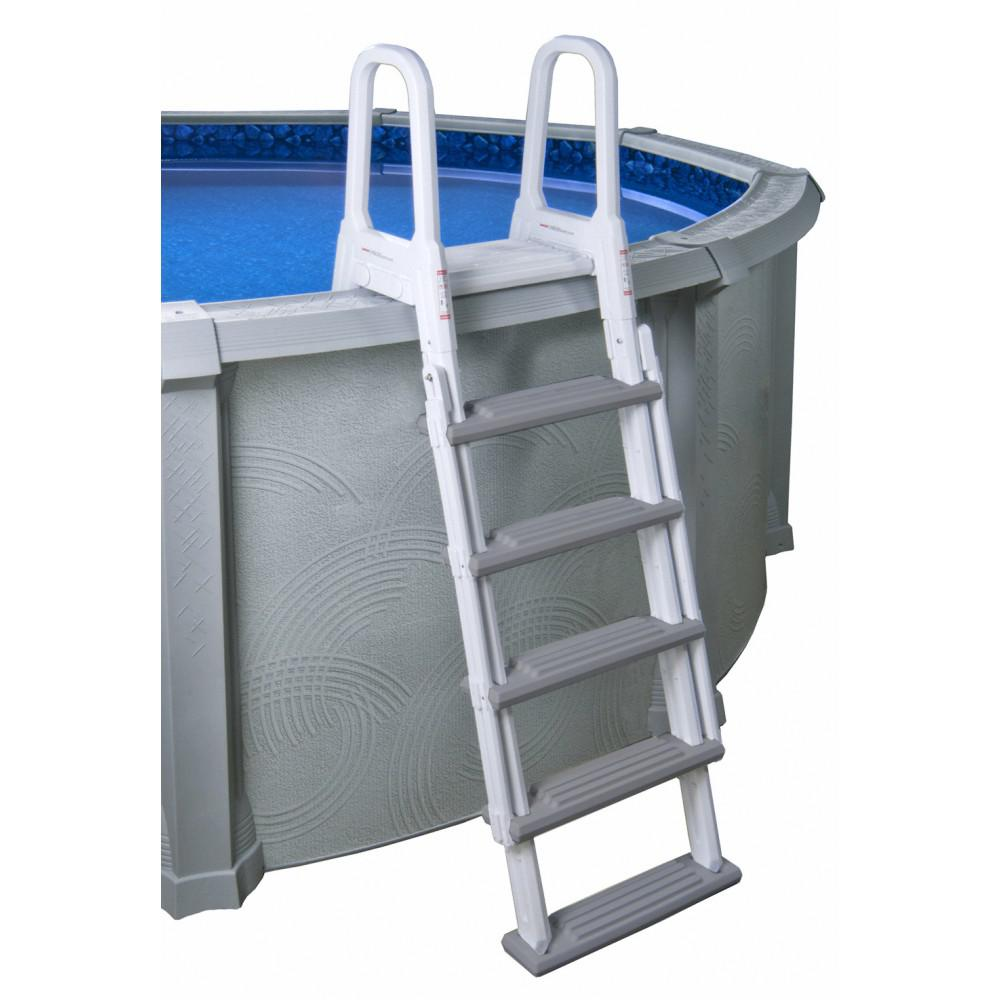 Blue Wave Heavy-Duty A-Frame Ladder for Above-Ground Pools