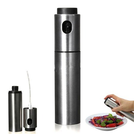 Stainless Steel Olive Oil Spraying Sprayer Bottle Barbecue Spray Pump  Kitchen Cooking Tool ()