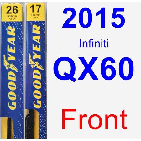 2015 Infiniti QX60 Wiper Blade Set/Kit (Front) (2 Blades) -