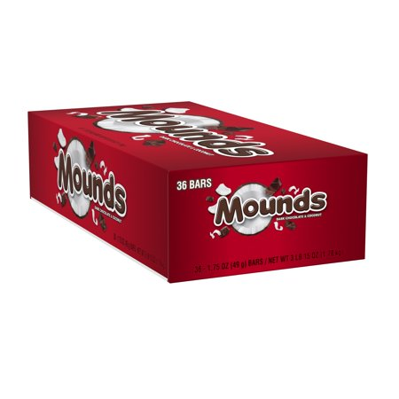Mounds Chocolate Bar (Mounds Dark Chocolate & Coconut Candy, 36 Count )