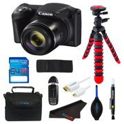 Canon PowerShot SX420 IS Digital Camera + SD Card + Tripod + Pixi Advanced Bundle Kit