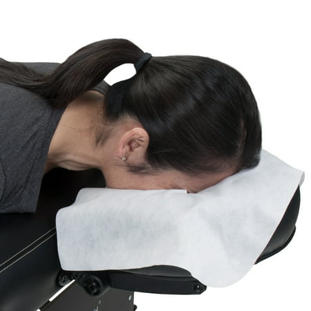 EARTHLITE Disposable Massage Headrest Cover – Medical-Grade, Ultra Soft, Luxurious, Non-Sticking Face Rest Cradle Covers