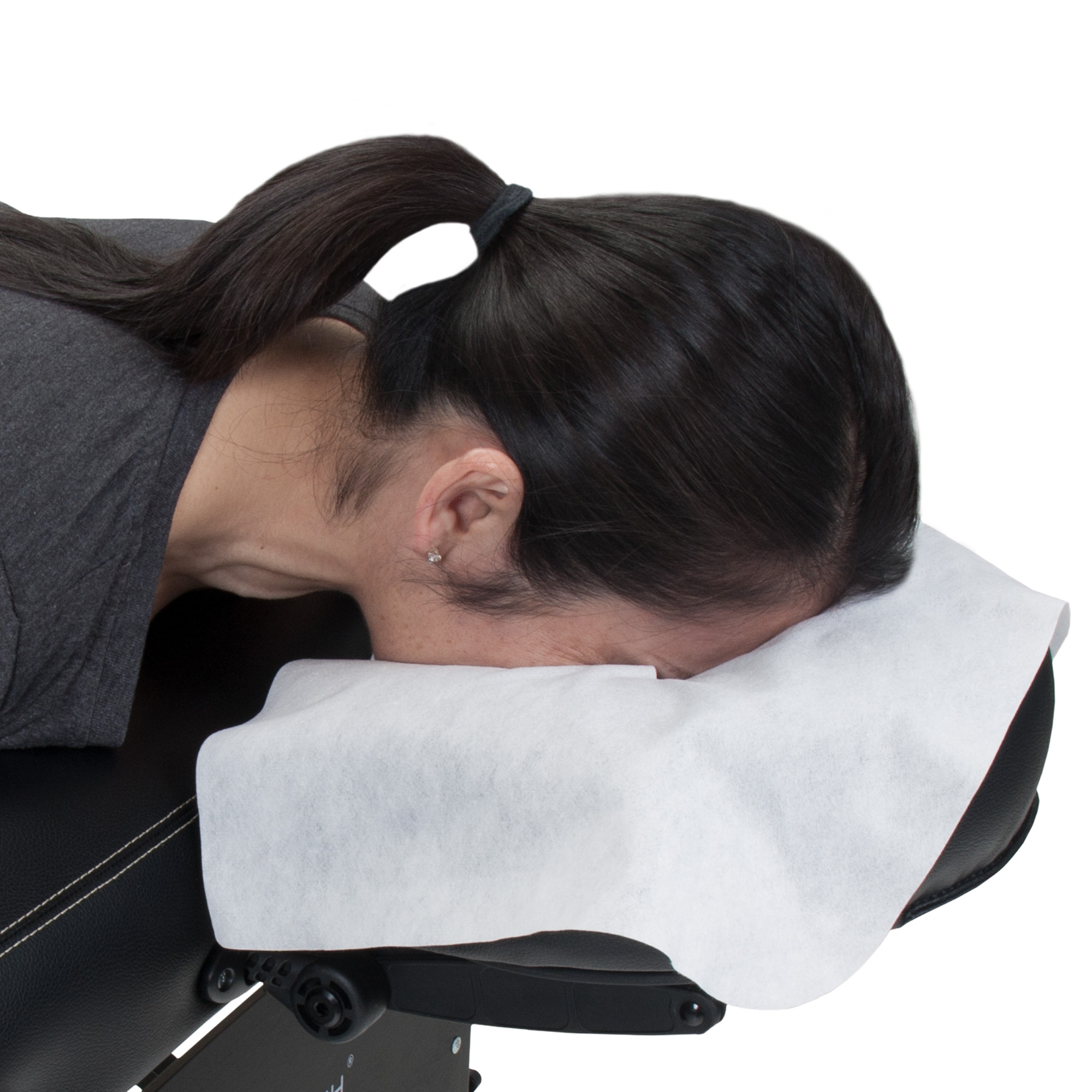 EARTHLITE Disposable Massage Headrest Cover – Medical-Grade, Ultra Soft, Luxurious, Non-Sticking Face Rest Cradle Covers (100count)