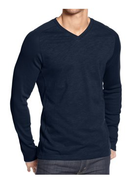 6264b989e Product Image Alfani NEW Neo Navy Blue Mens Size 2XL Slub-Knit V-Neck Tee T