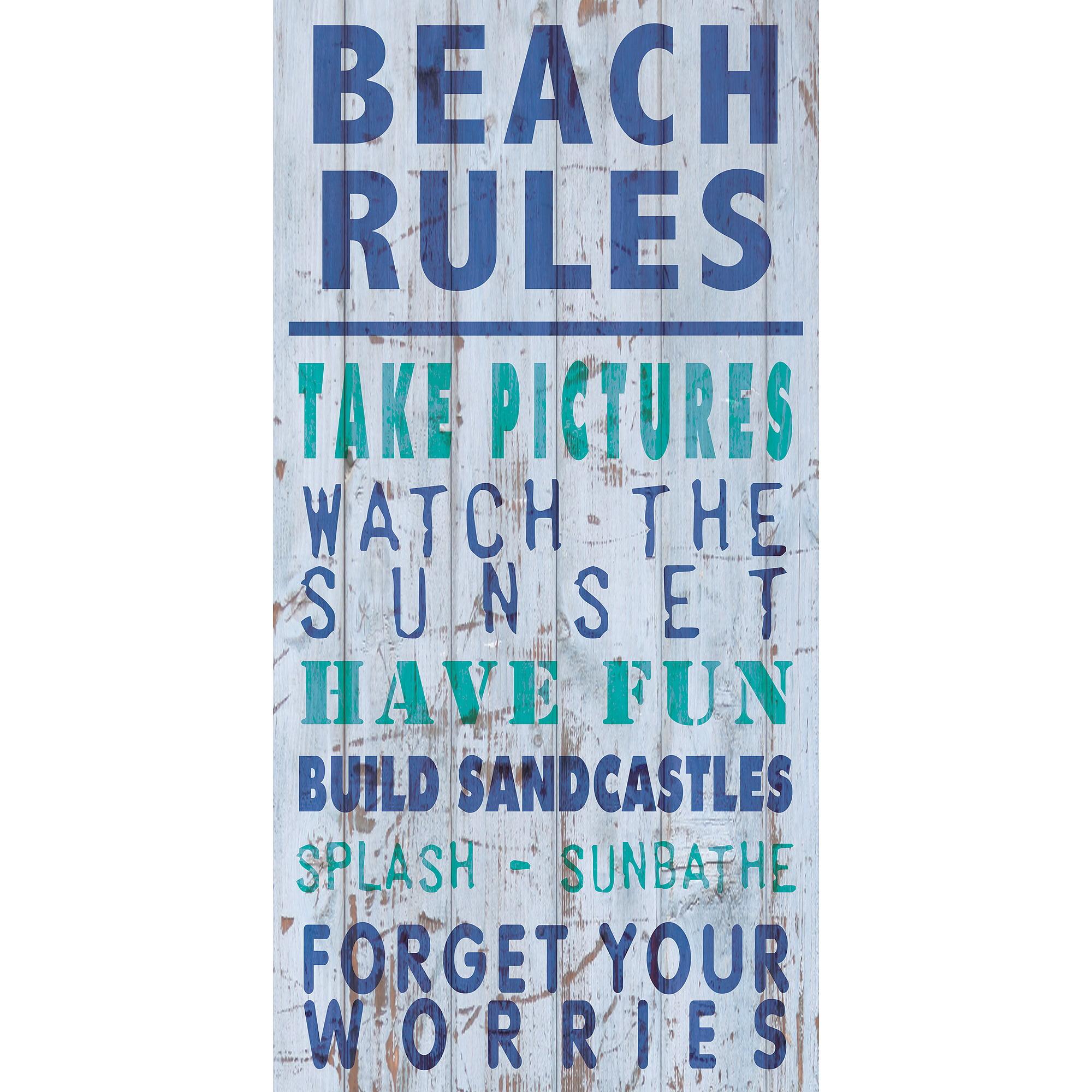 Beach Rules IV Wall Artwork by Pro Tour Memorabilia