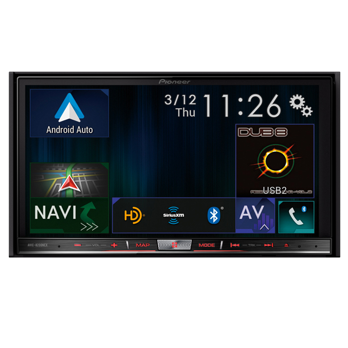 """Pioneer AVIC-8200NEX In Dash Double Din 7"""" Touchscreen DVD Navigation Receiver with Apple Car ..."""
