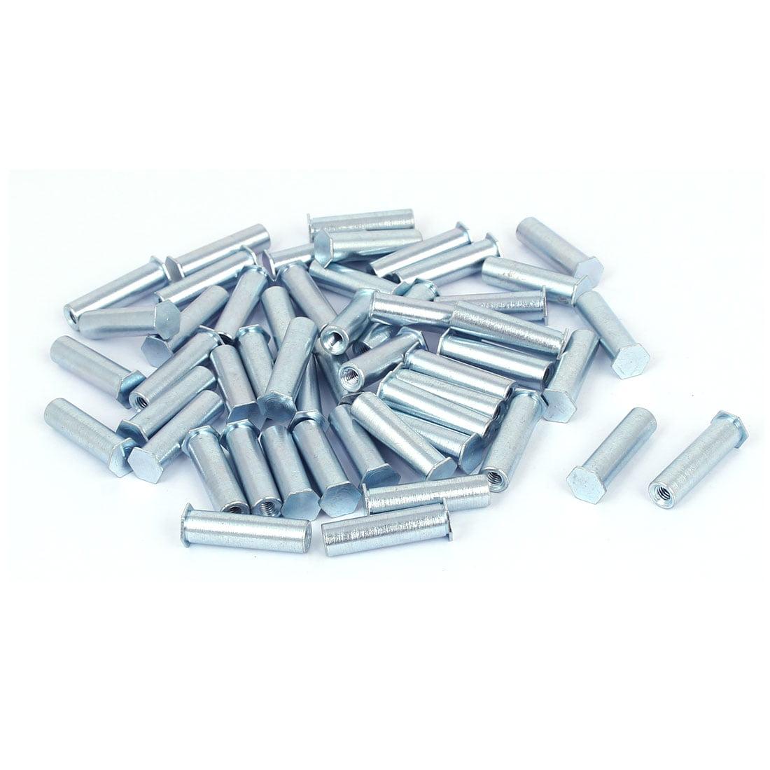 Unique Bargains M3x20mm Blind Hole Zinc Plated Carbon Steel Self Clinching Standoff 50pcs