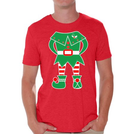Awkward Styles Elf Shirt Christmas Elf Shirt Elf Suit Men's Holiday Tee Elf Christmas Shirt Elf Christmas Tshirts for Men Family Elf Suit Christmas for Holiday Xmas Gifts ()