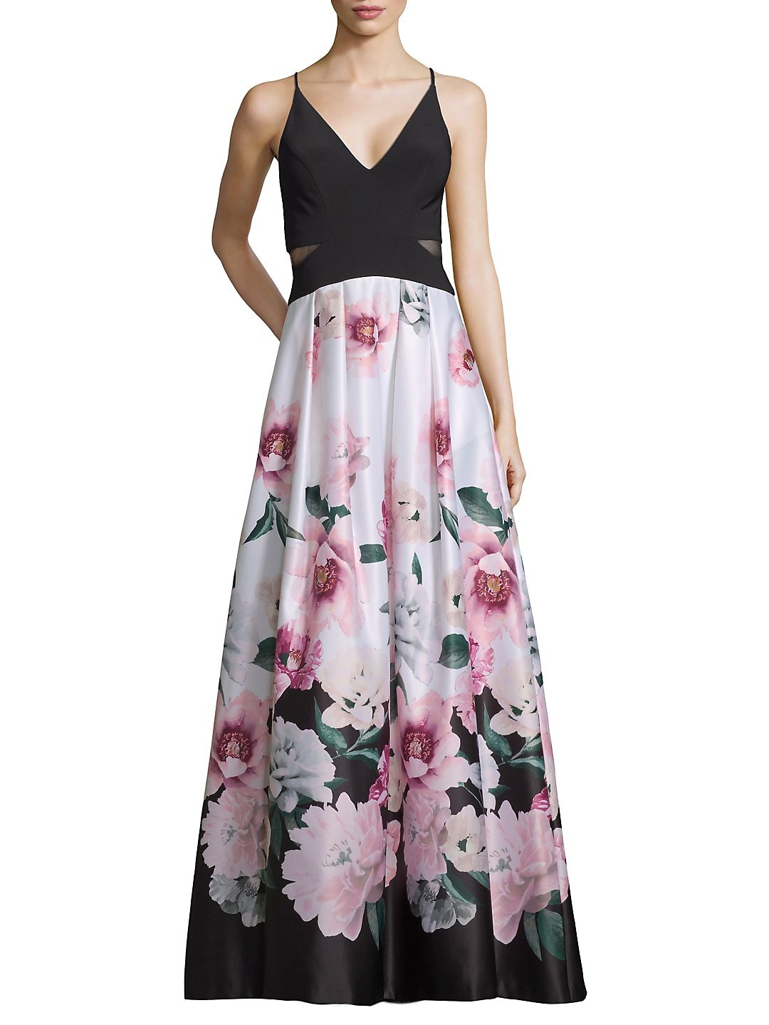 Floral Sleeveless Gown