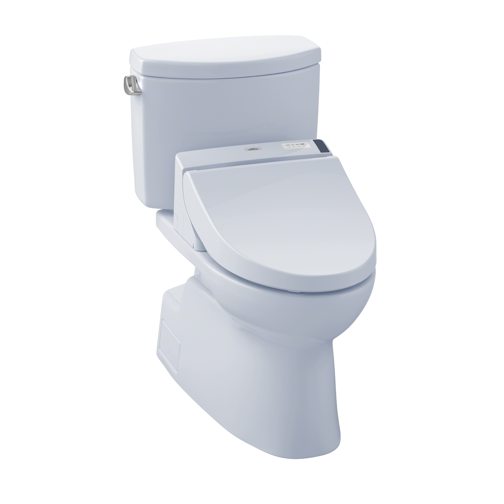 TOTO® Connect+® Kit Vespin® II Two-Piece Elongated 1.28 GPF Toilet and Washlet® C200 Bidet Seat, Cotton White - MW4742044CEFG#01