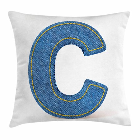 Letter C Throw Pillow Cushion Cover, Alphabet Sign Writing Language ...