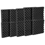 12 Pack Premium Egg Crate Acoustic Wedge Studio Soundproofing Foam Wall Tiles 12 x 12 x 2 Inches