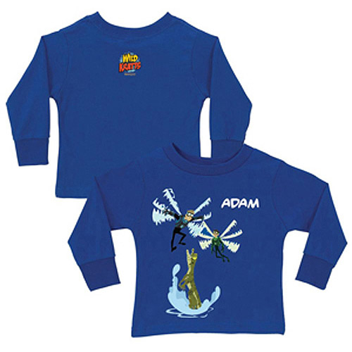 Personalized Wild Kratts Dragonfly Power Royal Blue Boys' Long-Sleeve Tee