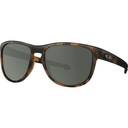 Oakley Sliver R Sunglasses Soft Coat Brown Tort W/Dark Grey One Size (Flak Jacket Oakley Sonnenbrille)