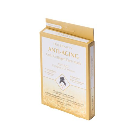 Tru Beauty Anti-Aging Face Mask - Gold - 5 Pack - Gold Face Mask
