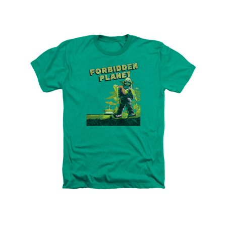 Forbidden Planet Classic Sci-Fi Movie Old Poster Adult Heather T-Shirt - Adult Classic Movies