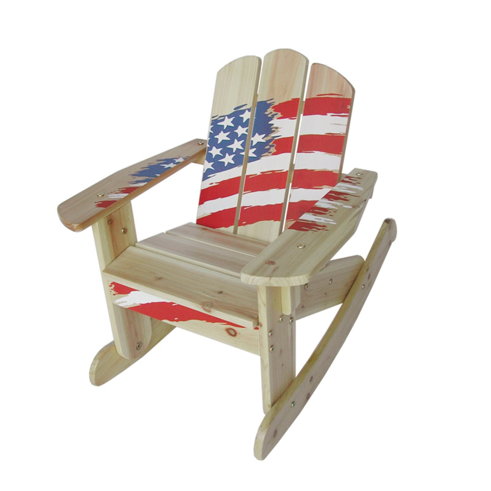 Kids Wooden Rocking Chair   American Flag