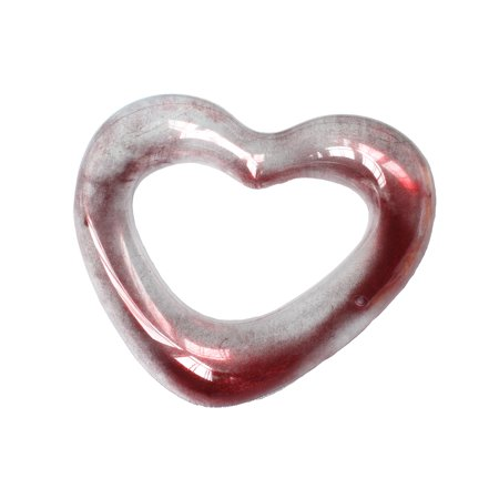 Playtek Toys Heart Shaped Glitter Inflatable Pool Float
