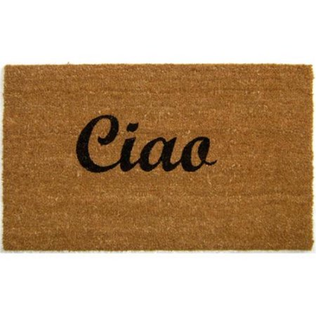 Geo Crafts G362 Ciao 18 x 30 in. PVC Back Coir Outdoor Doormat